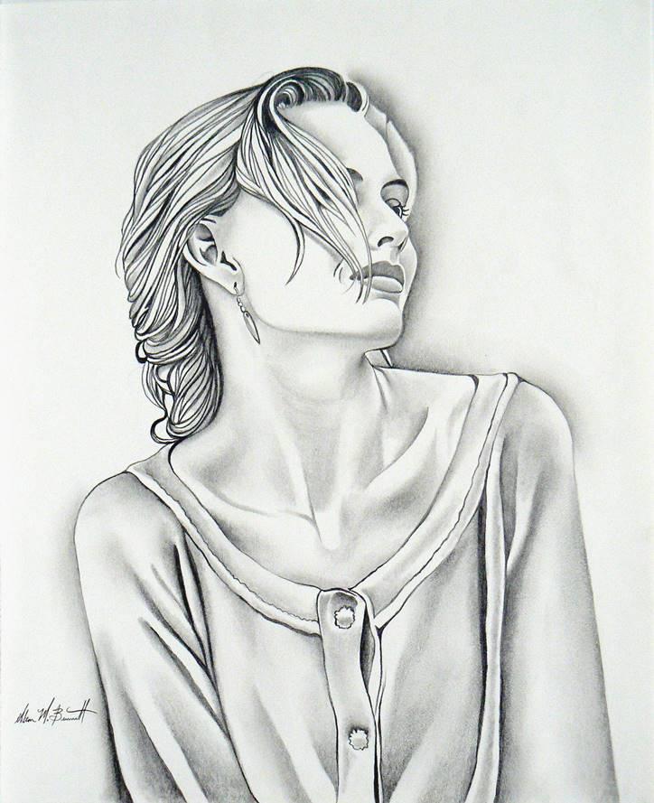 blonde-model-pencil-sketch